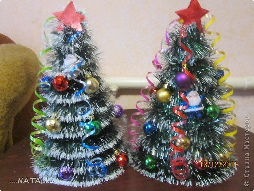 Новогодние елке своими руками из подручных материалов